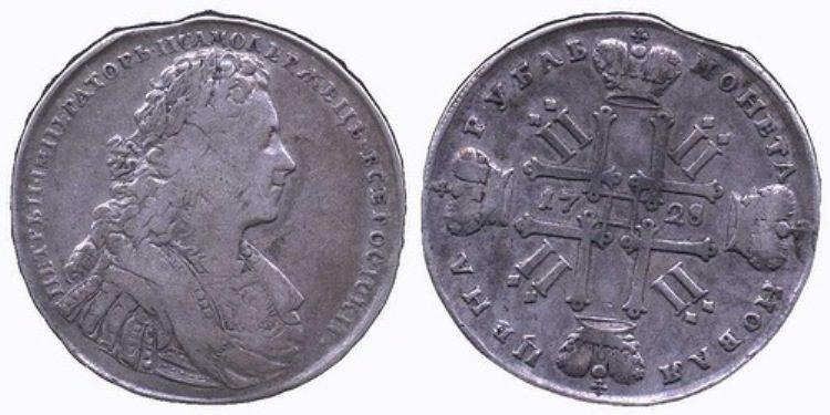 Рубль Петра II.