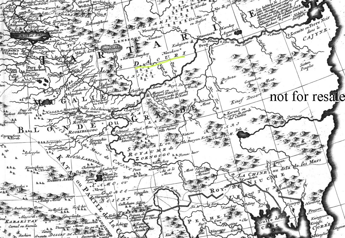 Н. Витсен карта Тартарии 1705г.