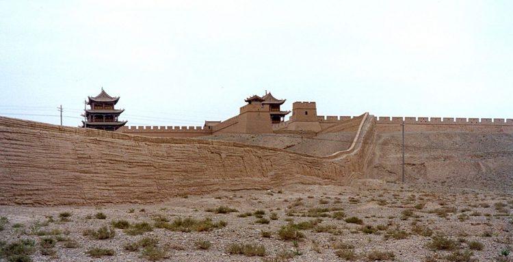 китайская Стена Jiayuguan