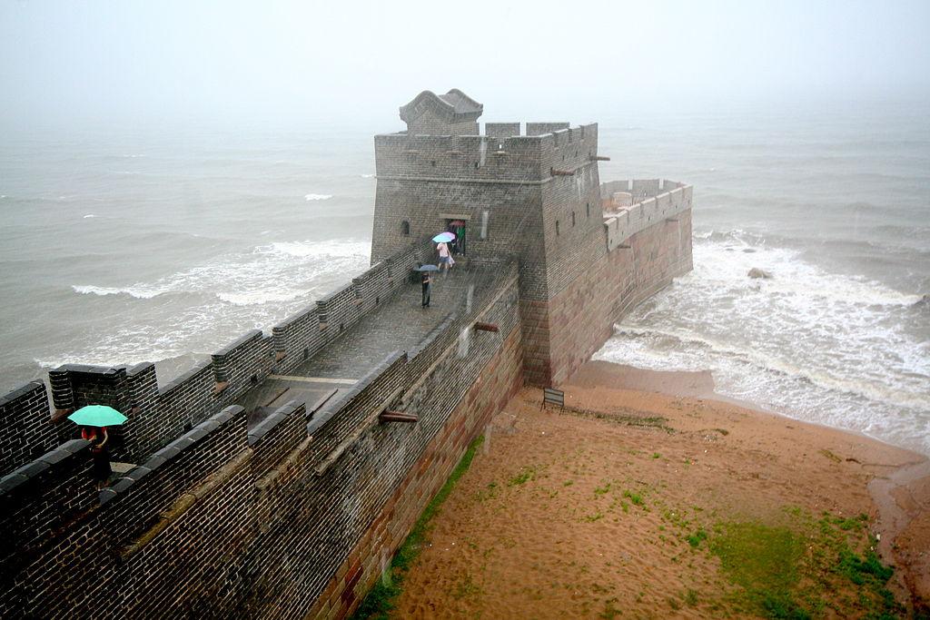 Конец великой китайской стены фото