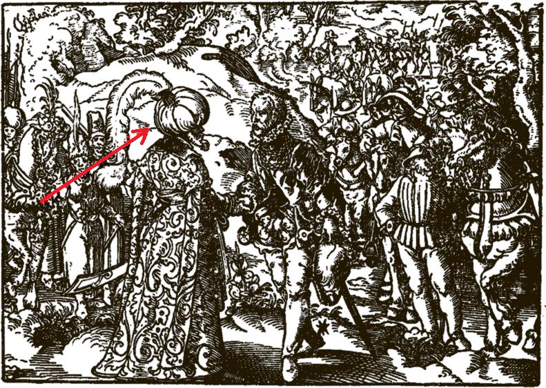 Русский Царь. Гравюра из книги З. Герберштейна. 1576г.
