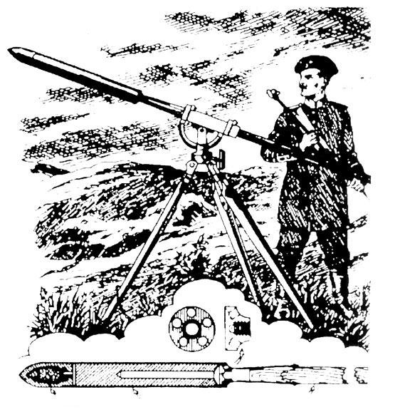 Станок для запуска ракет, конструкции Константинова.