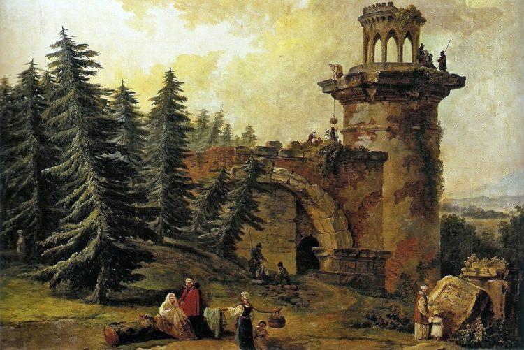 Башня-Руина в Екатерининском парке Царского Села.