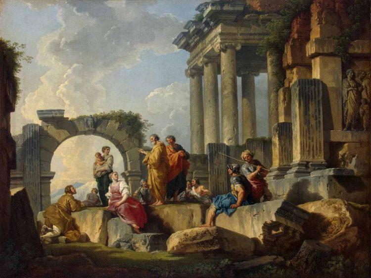 Джованни Паоло Панини . «Апостол Павел проповедующий на руинах» (Апостол Павел в Ареопаге)