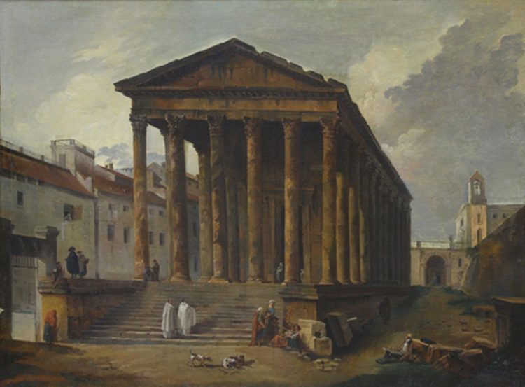 Huber Robert. Ancient temple,1787.