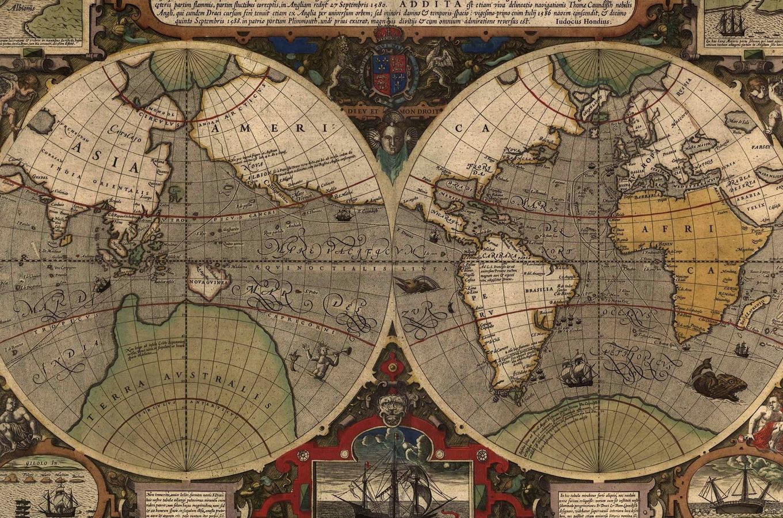 Карта мира 1851 года