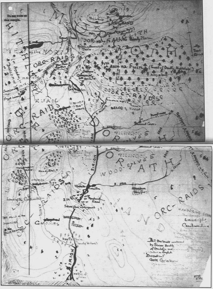 карта Толкиена