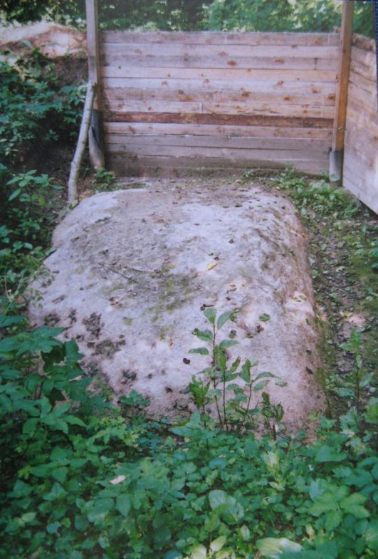 Титов камень во время последнего своего появления на поверхности.