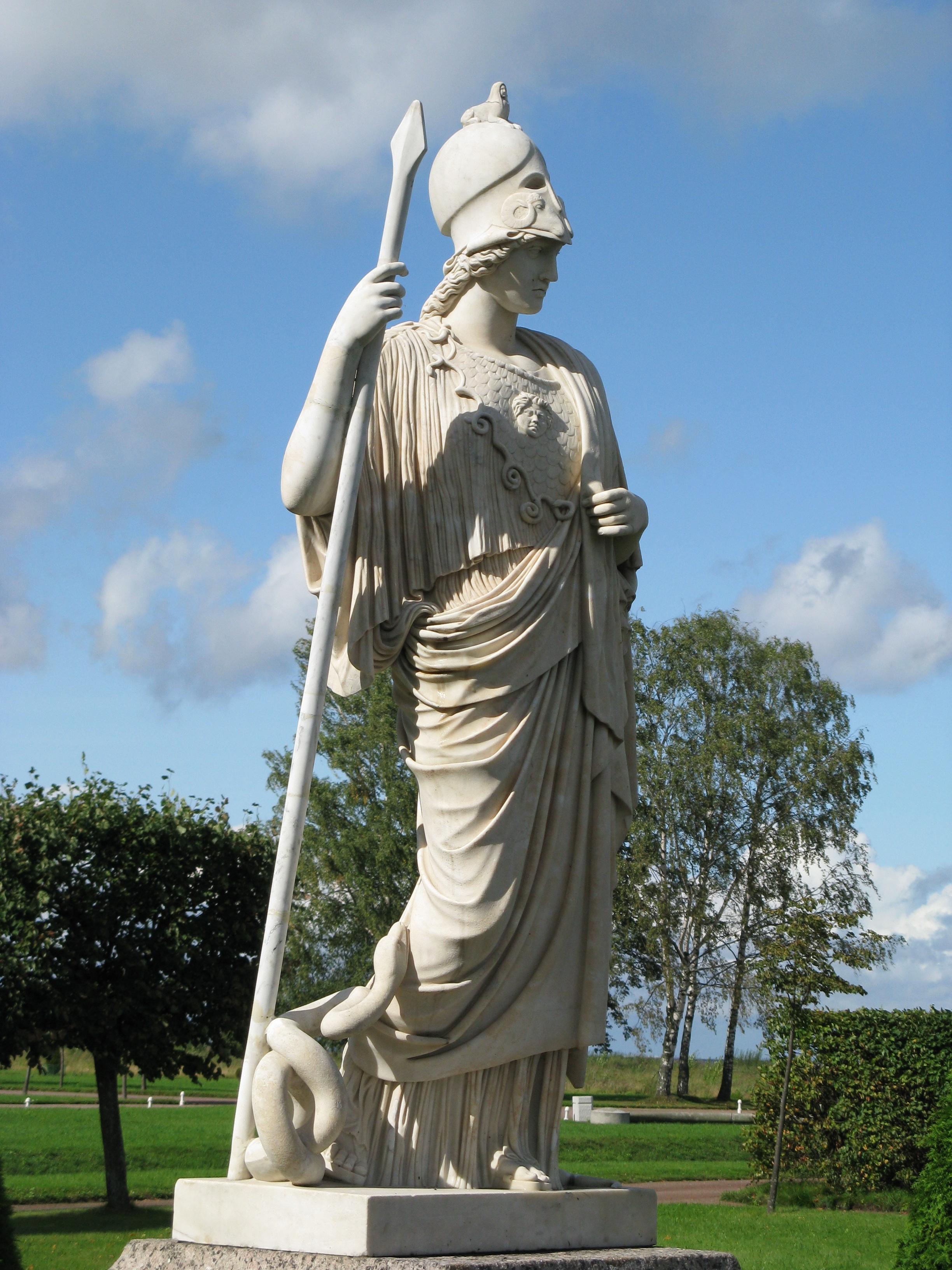 Афина же была Богиня, а не какая-нибудь модница. Значит, в форме головного убора имелся практический смысл?