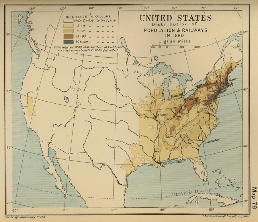 Плотность населения в США