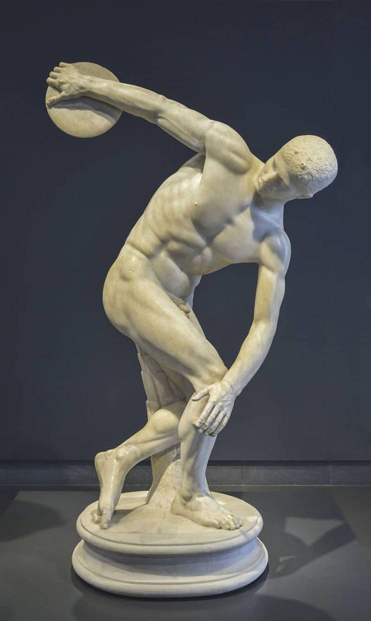 Римская мраморная копия древнегреческой статуи Мирона, около 120—140 года, дворец Массимо в Риме