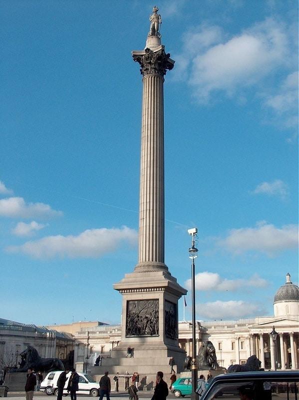 Колонна адмирала Нельсона. Лондон.