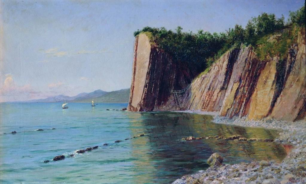 "Картина Киселёва А.А. ""Кадошские скалы"" 1902 год"