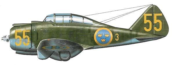 Эмблема королевских ВВС Швеции.