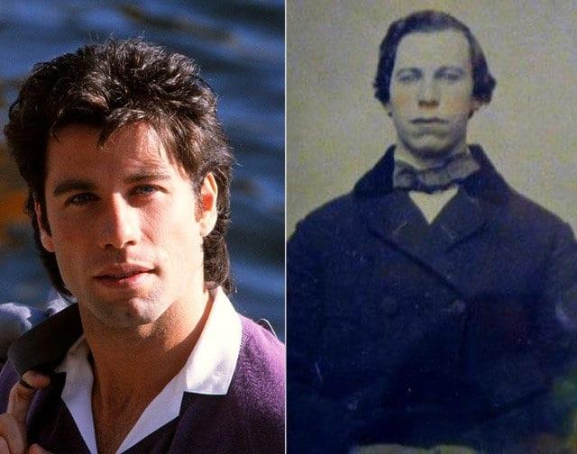 Джон Траволта и неизвестный мужчина из 1860 года