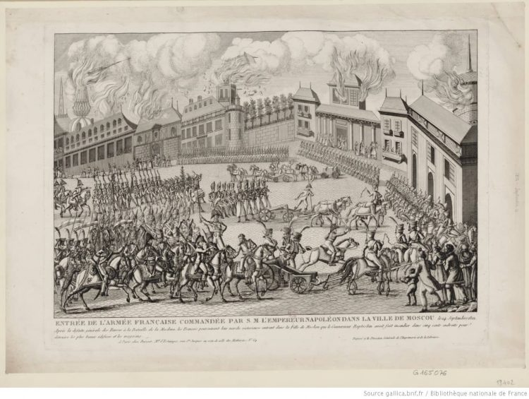 Entrée de l'Armée française commandée par S. M. l'empereur Napoléon dans la ville de Moscou :