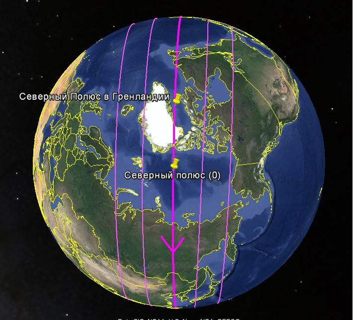 Сдвиг полюсов. Земля и полюса прошлый и нынешний