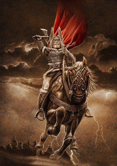 Перун. Картина Игоря Ожиганова
