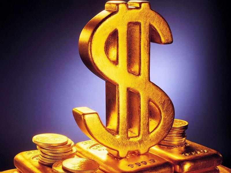 Колонны на логотипе доллара США.