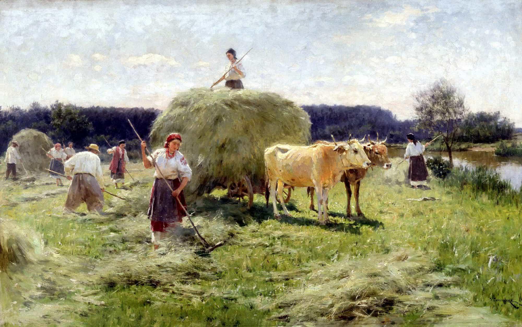 Н.К. Пимоненко.Сенокос. Украина. 1912 г.