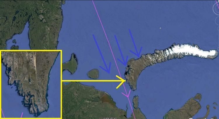 Карта. Сдвиг полюсов. Северная Земля движение потока