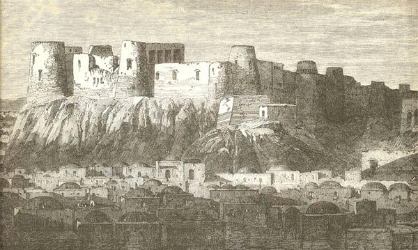 Цитадель Герата. Гравюра XIXв.
