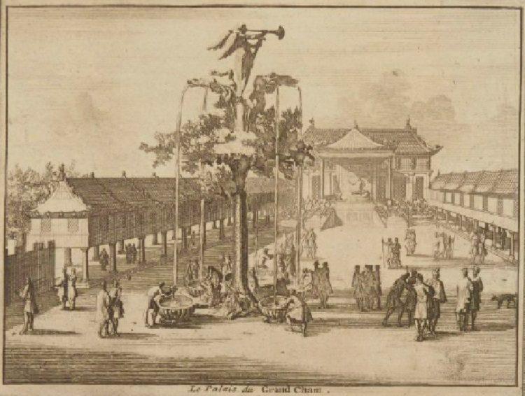 Фонтан у дворца Мангу-Хана в Кара-Куруме