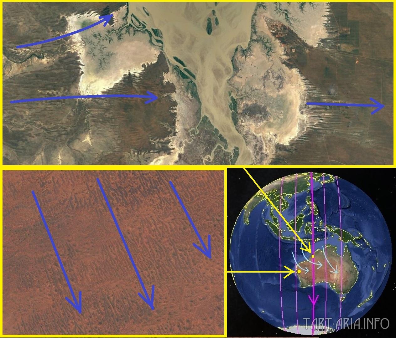 Карта. Сдвиг полюсов. Австралия шар общий вид 5