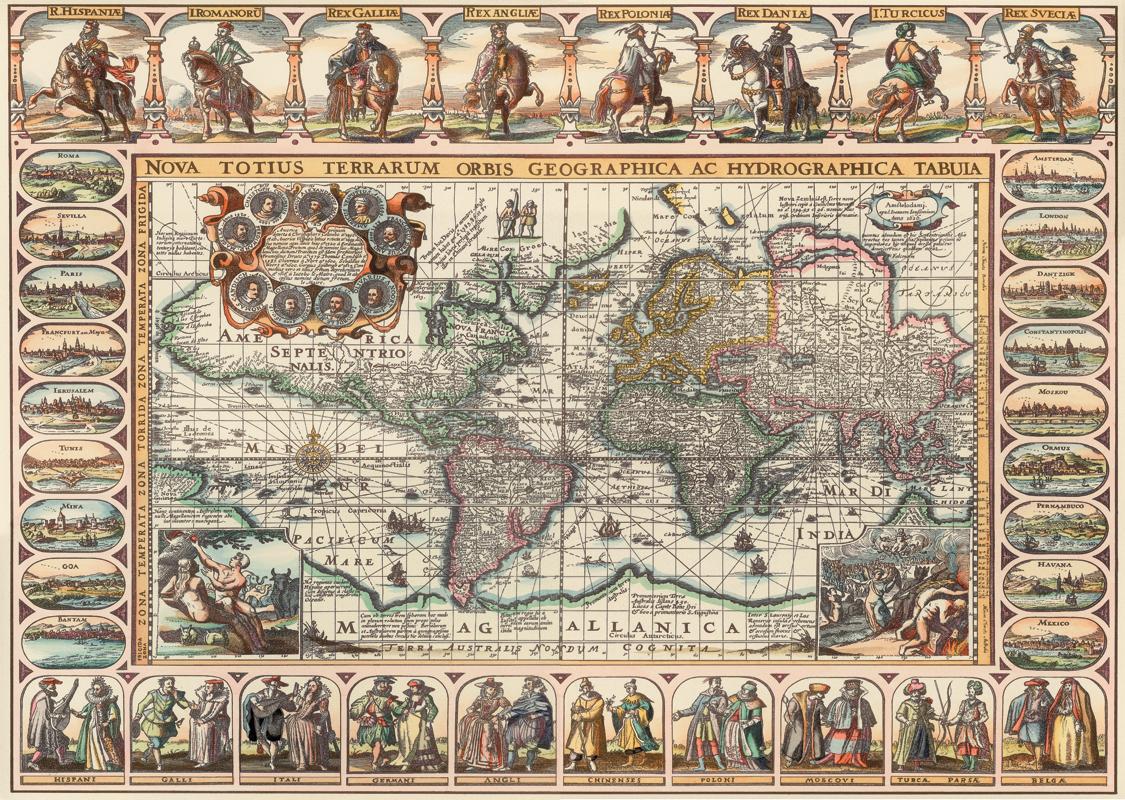 Сдвиг полюсов. Старинные карты. Магелланика