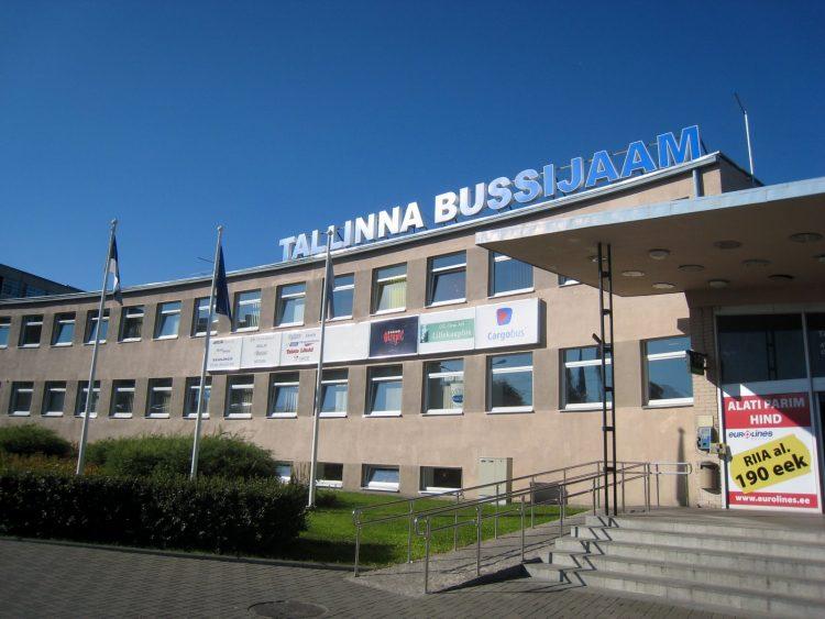 Автовокзал в г. Таллин. Эстония
