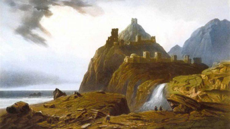 Развалины генуэзских крепостей в Судаке