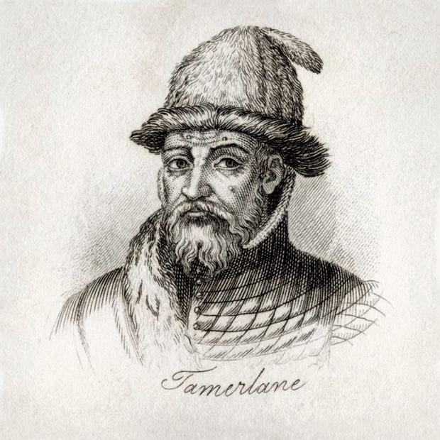 Тамерлан. (J.W. Cook, гравюра, IXX в.)