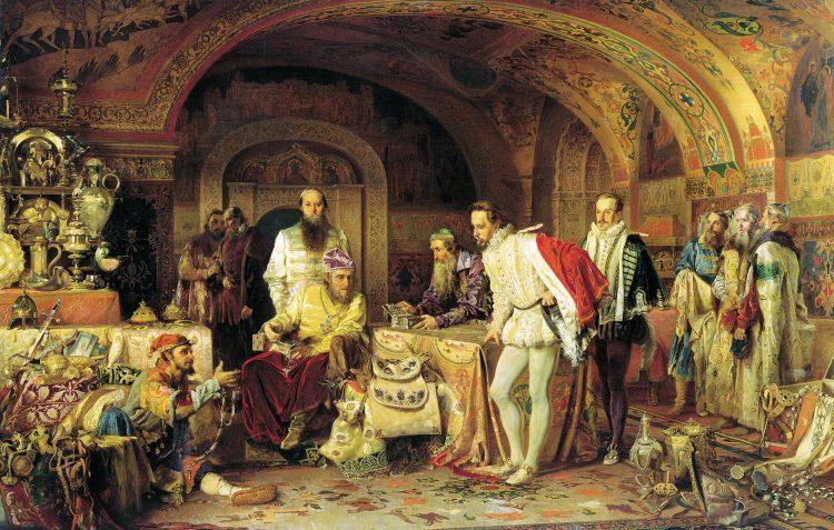 Иван Грозный показывает сокровища Джерому Горсею