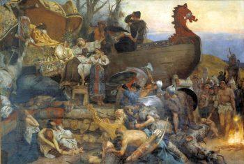 Семирадский Г.И. Похороны знатного руса. Холст, масло