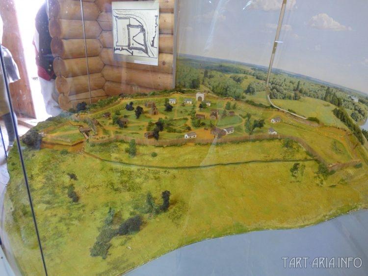 Макет Александровской крепости в музее Усть-Лабинска