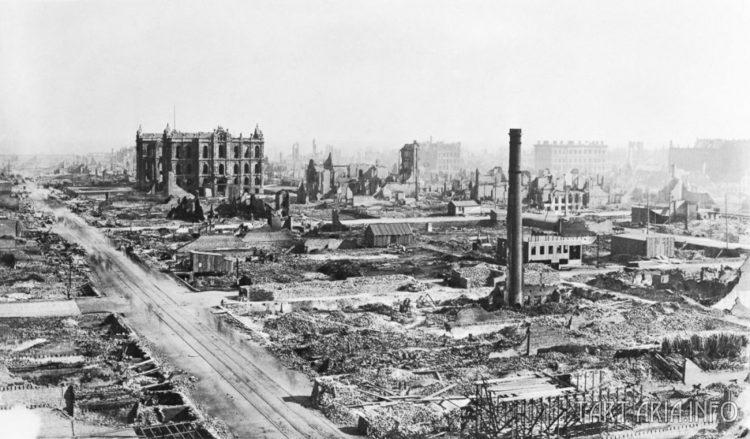 Чикаго после пожара