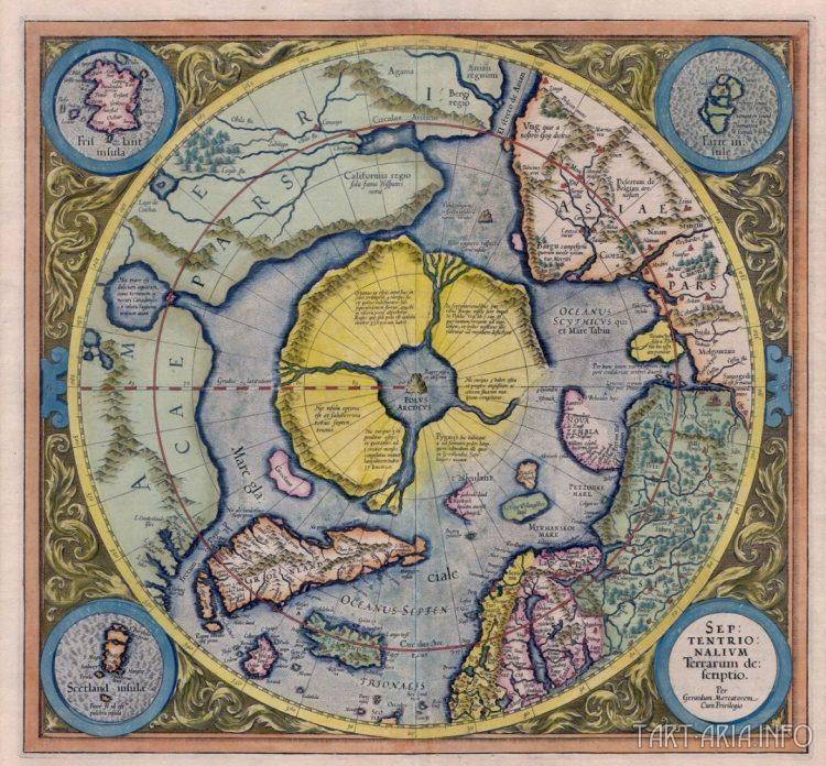 Описание Северной Земли (Septentrionalium Terrarum description), Меркатор, 1606г. Источник