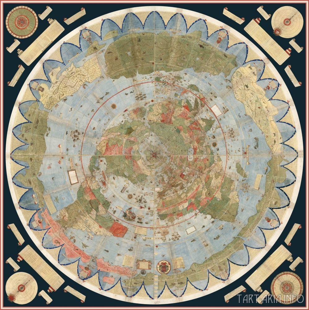 Планисфера Урбано Монте, 1587г. Источник