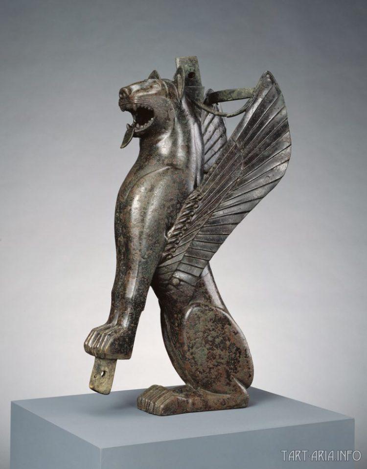 Крылатый лев, Тартессос, Испания, 700 - 575 до н.э.  источник
