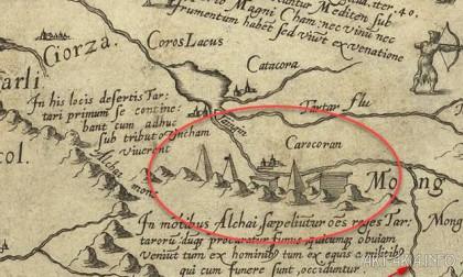 Фрагмент карта Даниэля Келлера 1595г.