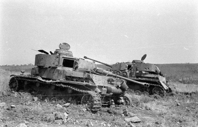 Подбитые немецкие танки
