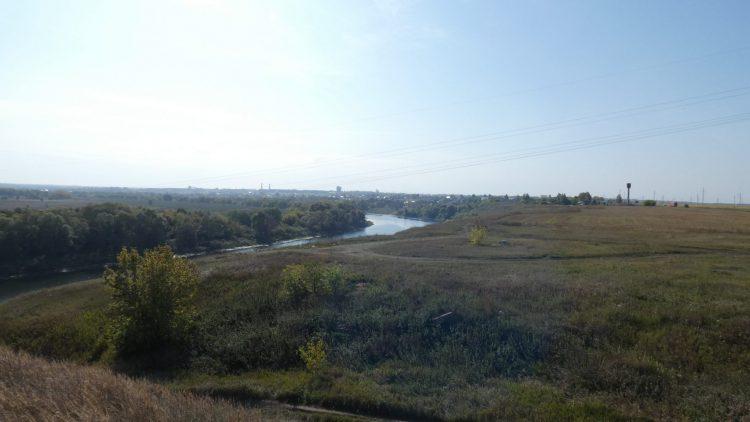Вид на реку Цна, с вала Темгеневского городища