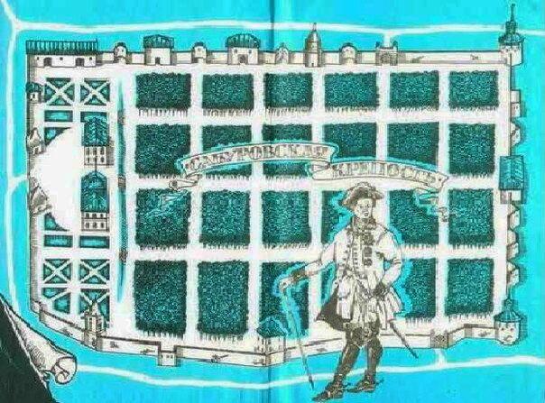 Официальный план Сабуровской крепости