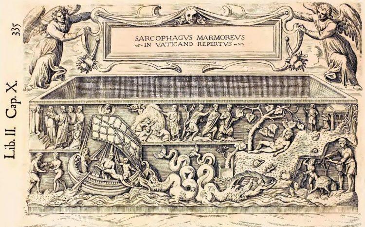 Мраморный саркофаг, обнаруженный в Ватикане