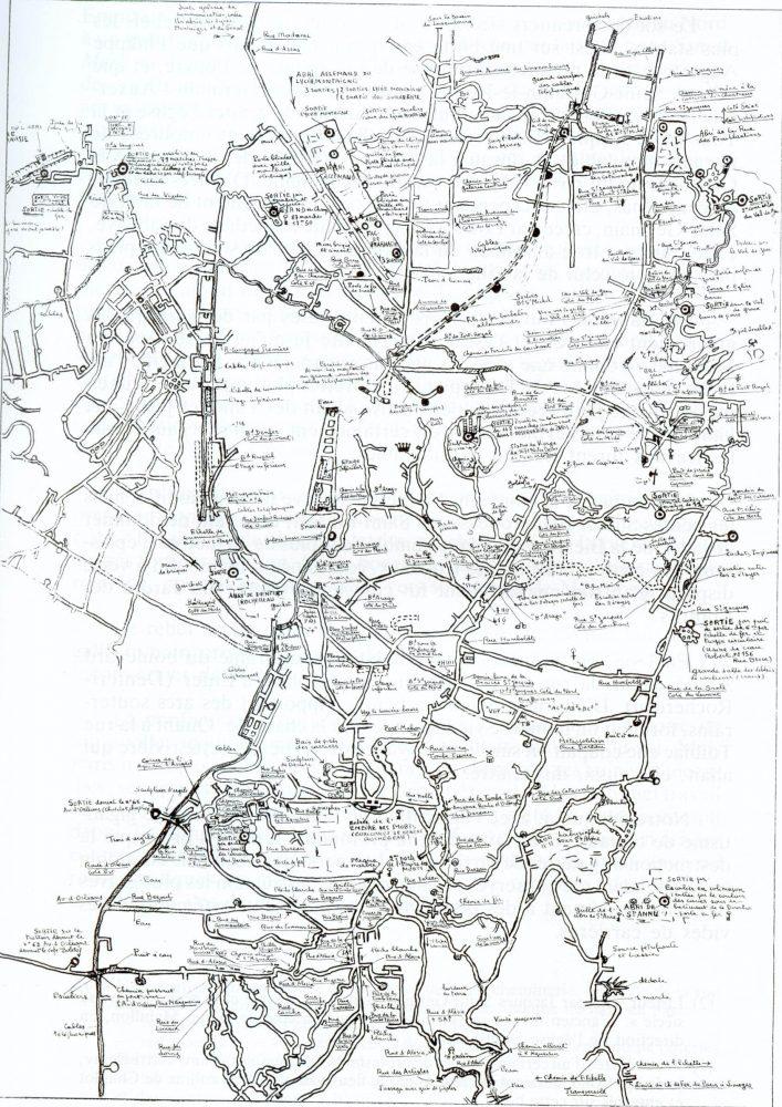 План Парижских катакомб, источник