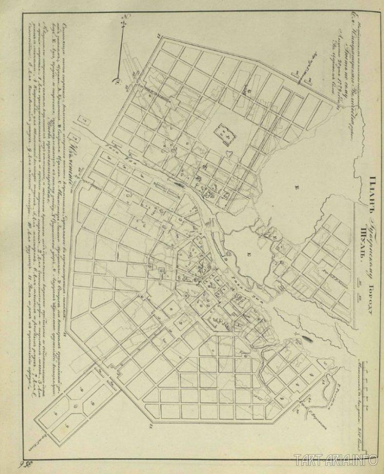 Карта города Тула от 1779 года