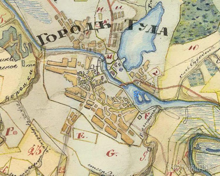 Карта города Тула от 1790 года. Где кремль?