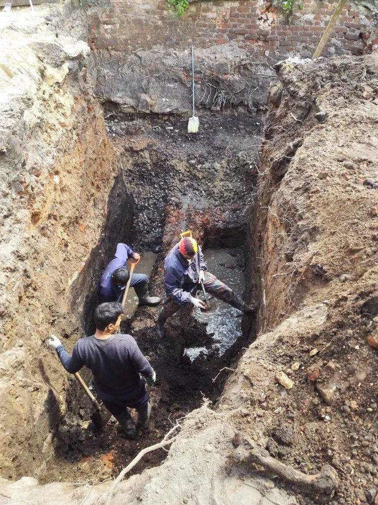 Раскопки в Черниковском переулке. Июнь 2018 года