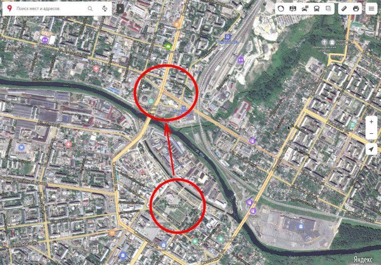 Предпочтительное расположение Тульского кремля, для защиты южного направления