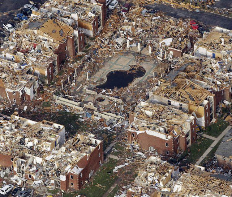 Глобальные разрушения в городе